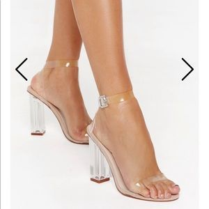 Nasty Gal clear heels